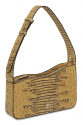 EPHRON LEATHER BAGUETTE BAG YELLOW CROC EMBOSSED