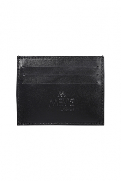 SMOOTH BLACK LEATHER SLIM CREDIT CARD HOLDER SMOOTH BLACK LEATHER SLIM CREDIT CARD HOLDER