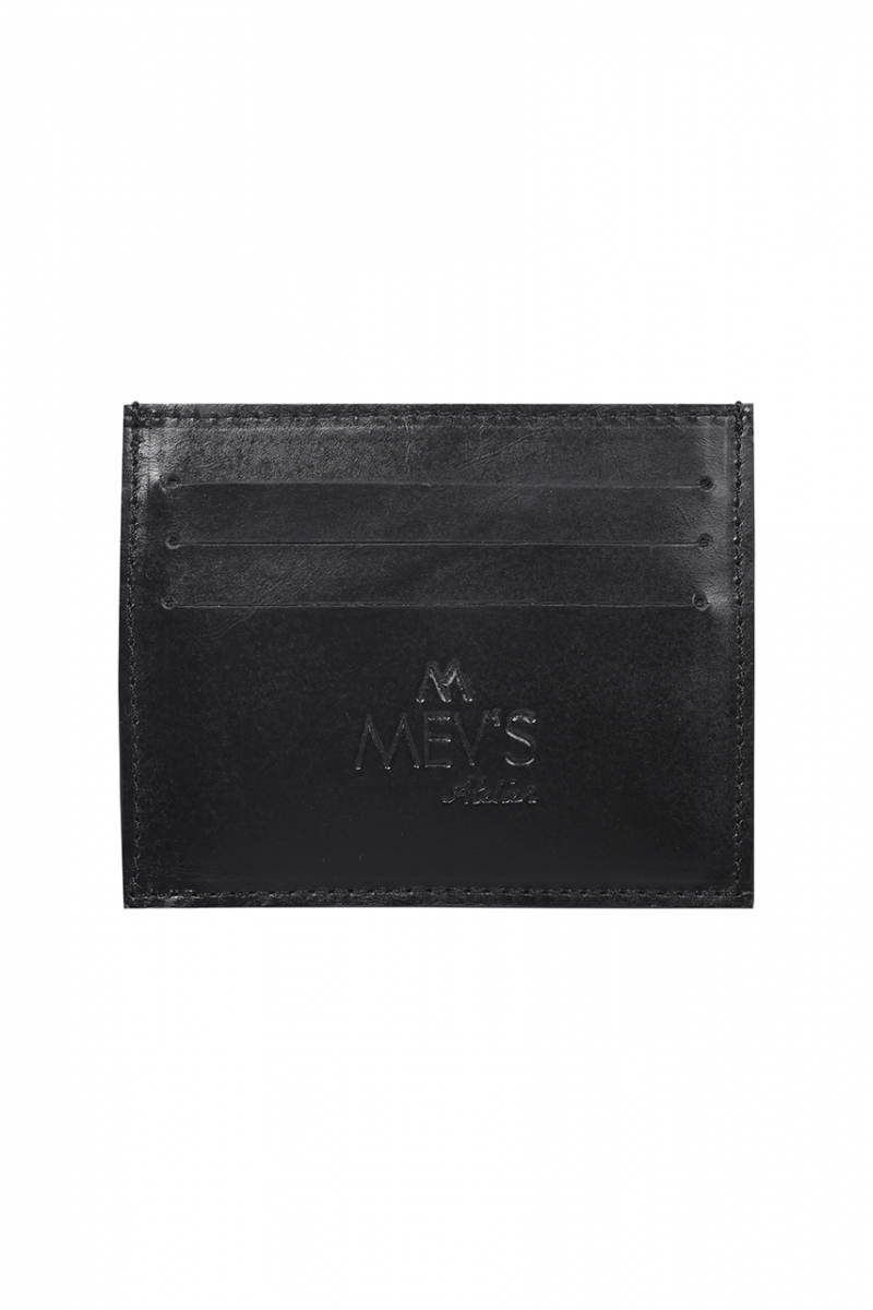 SMOOTH BLACK LEATHER SLIM CREDIT CARD HOLDER