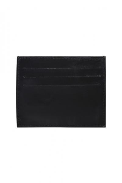 SMOOTH BLACK LEATHER SLIM CREDIT CARD HOLDER SMOOTH BLACK LEATHER SLIM CREDIT CARD HOLDER