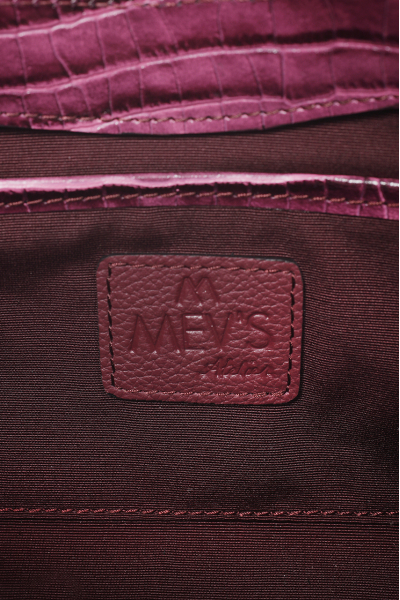 EPHRON LEATHER BAGUETTE BAG purple CROC EMBOSSED EPHRON LEATHER BAGUETTE BAG purple CROC EMBOSSED