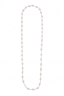 Glowing Diaries CHAMPAGNE PEARL NECKLACE