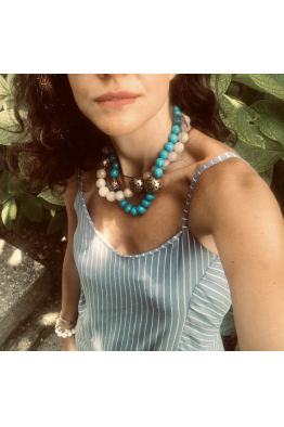 Glowing Diaries TURQUOISE NECKLACE