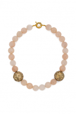 Glowing Diaries BEIGE ONYX NECKLACE