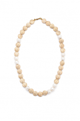 Glowing Diaries COIN PEARL NECKLACE
