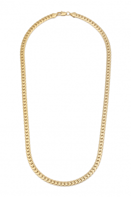 Glowing Diaries TANNED CHAIN NECKLACE