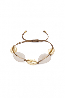 Glowing Diaries BROWN MULTI COWRIE BRACELET