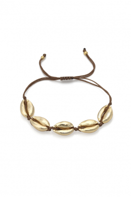 Glowing Diaries COWRIE GOLD BRACELET