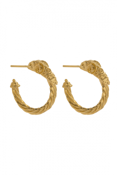 ARIES GOLD EARRING