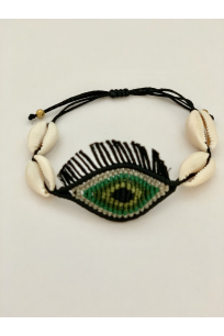 EYE CANDY GREEN BLACK TASSEL