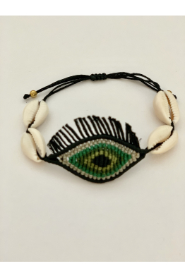 Glowing Diaries EYE CANDY GREEN BLACK TASSEL