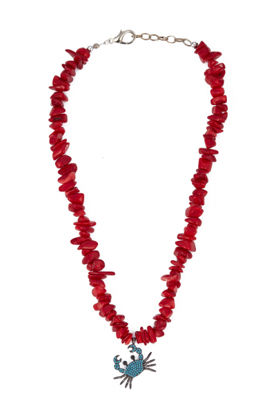 Glowing Diaries CRABBY CORAL NECKLACE