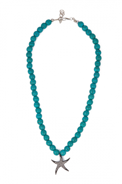 Glowing Diaries TURQUOISE STAR NECKLACE