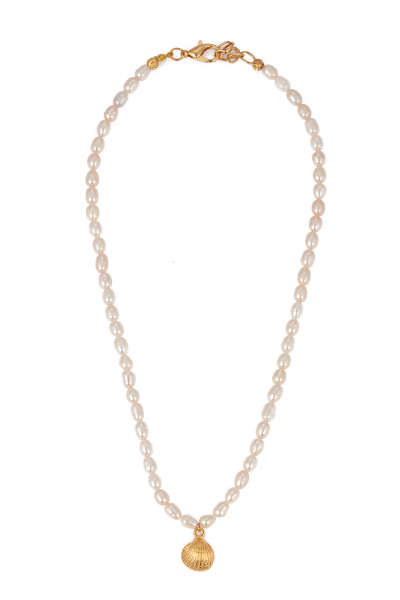 Glowing Diaries MINI PEARL SHELL NECKLACE