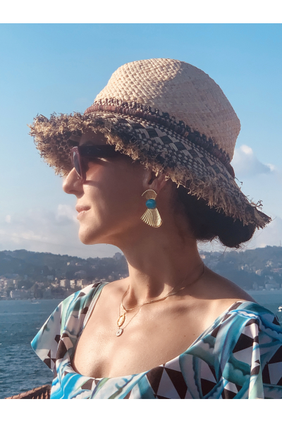 Glowing Diaries MUSE TURQUOISE EARRING