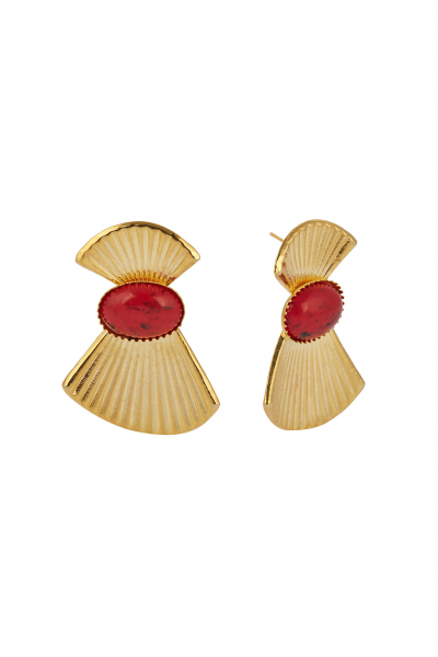 MUSE CORAL EARRING