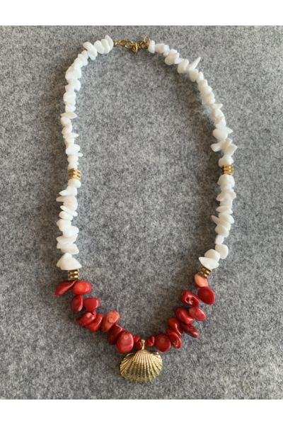 CORAL MIX NECKLACE CORAL MIX NECKLACE