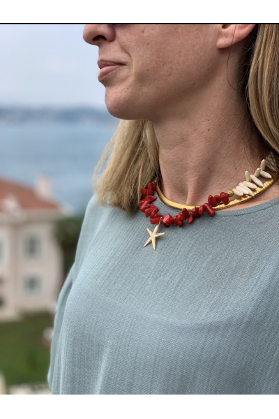 CORAL PICK NECKLACE CORAL PICK NECKLACE