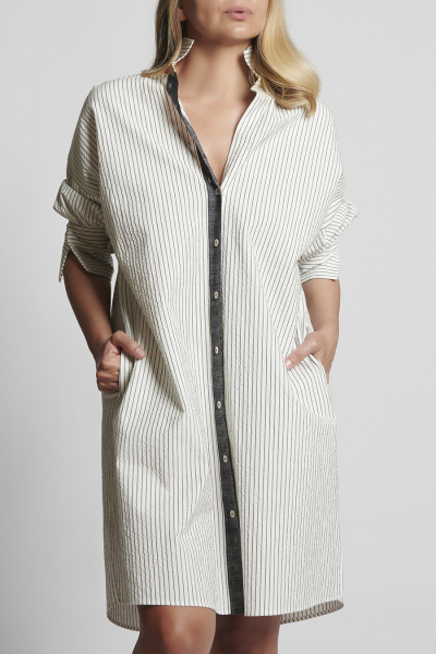 JONI | Çizgili trench elbise JONI | Çizgili trench elbise
