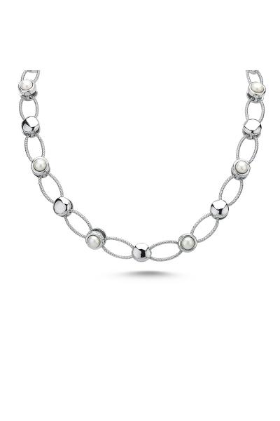 Pearlshine Zincir - Kısa Silver Pearlshine Zincir - Kısa Silver