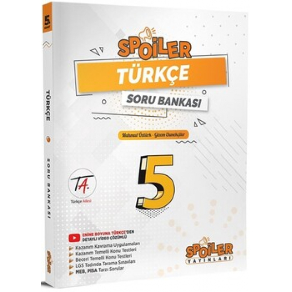 Spoiler Yayınları 5. Sınıf Türkçe Soru Bankası Spoiler Yayınları 5. Sınıf Türkçe Soru Bankası