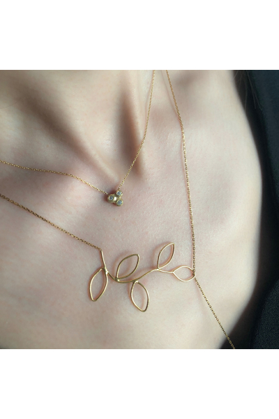 Flux Y Necklace | 18K Gold Plated