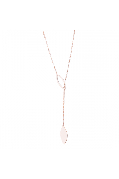 Flux Y Necklace | Rosegold Plated
