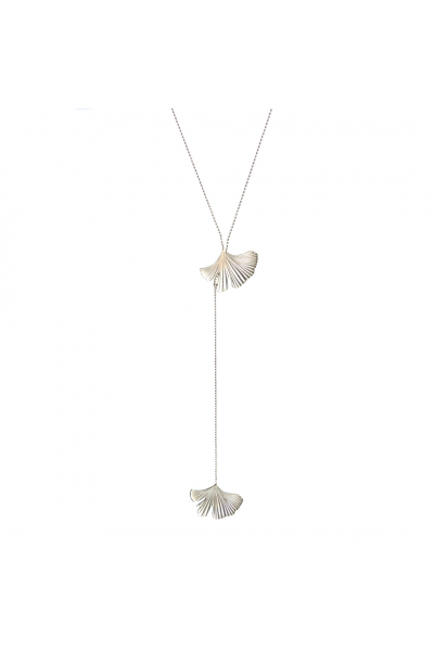 Reborn Necklace | Y Necklace | Brass White Rhodium Plated