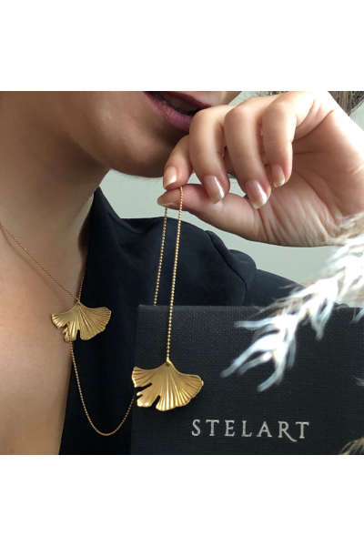 Stelart Jewelry Reborn Necklace | Y Necklace | Brass 18K Gold Plated