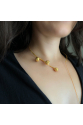 Flux Necklace | White Pearl | Brass 18K Gold Plated