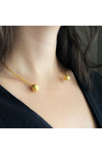 Flux Necklace | Brass 18K Gold Plated