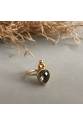 Bacchus Ring | Smokey Quartz | 18K Gold Plated