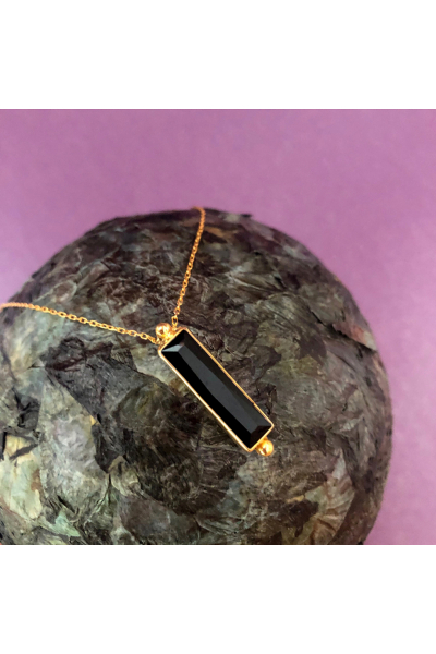 Stelart Jewelry Bacchus Necklace | Onyx | 18K Gold Plated