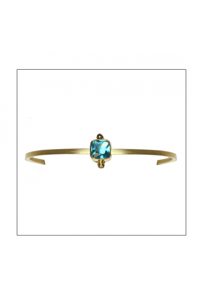 Bacchus Bracelet   Blue Topaz   18K Gold Plated