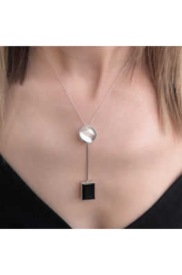 Stelart Jewelry Dual Necklace | Onyx & Nacre | 925 Silver