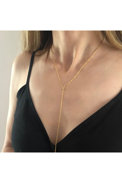 Stelart Jewelry Flux Y Necklace | 18K Gold Plated