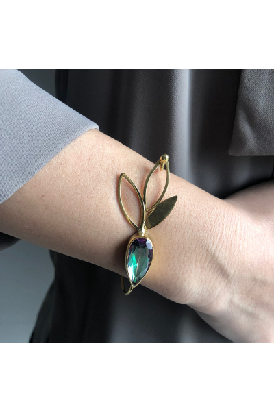 Flux Bracelet | Zircon | 18K Gold Plated Flux Bracelet | Zircon | 18K Gold Plated