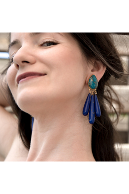 Stelart Jewelry Reborn Earring | Turquoise | 18K Gold Plated