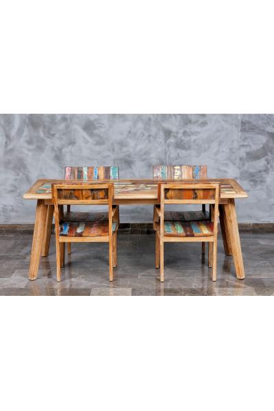 Teak Recycle Dikdörtgen Yemek Masası