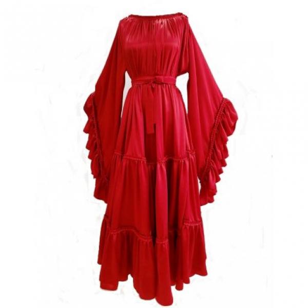 Bashaques' Kırmızı İpek Elbise
