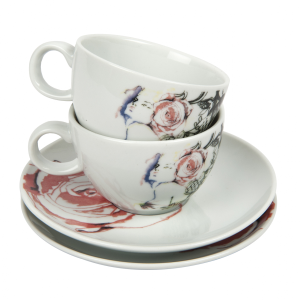 Bashaques x Cosalindo Teapot Desen 2'li Kahve Fincan Seti