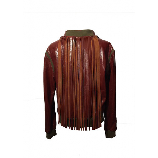 %100 Deri Boyundan Püskül Detaylı Sweatshirt %100 Deri Boyundan Püskül Detaylı Sweatshirt