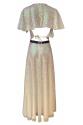 White Disco Dress - Hologram Pullu Uzun Elbise
