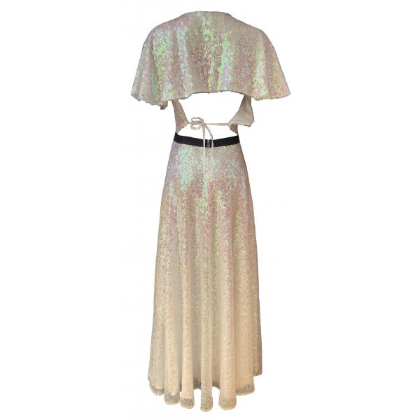 White Disco Dress - Hologram Pullu Uzun Elbise White Disco Dress - Hologram Pullu Uzun Elbise