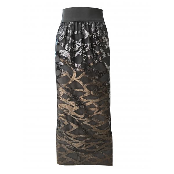 Black Swan Skirt - Payetli Siyah Uzun Etek Black Swan Skirt - Payetli Siyah Uzun Etek