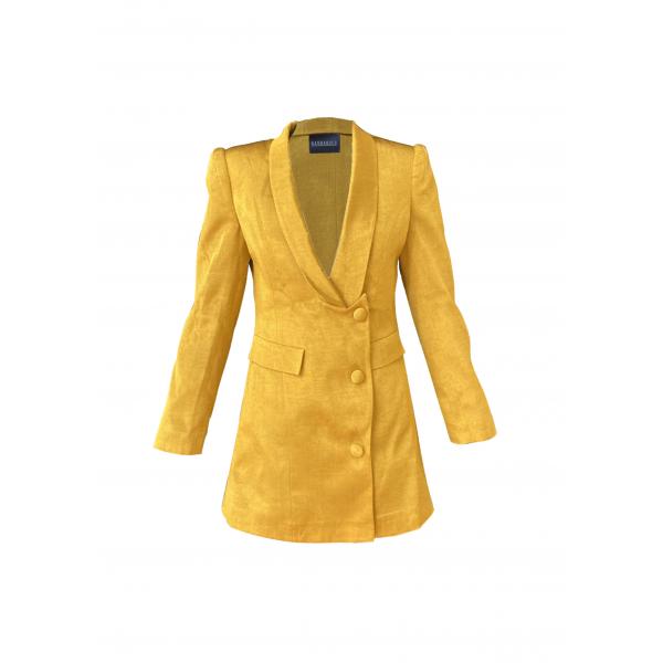 Gold İpek Blazer Ceket & Elbise Gold İpek Blazer Ceket & Elbise