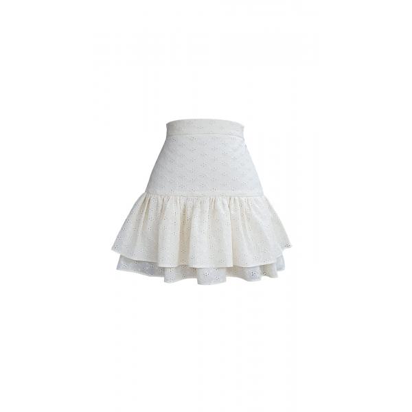 Coconut Milk Skirt - Etek Ucu Volanlı Mini Etek Coconut Milk Skirt - Etek Ucu Volanlı Mini Etek