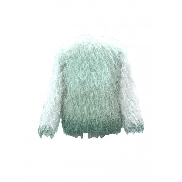 Fluffy Jacket / Su Yeşili Gradyenli Suni Kürk Ceket Fluffy Jacket / Su Yeşili Gradyenli Suni Kürk Ceket