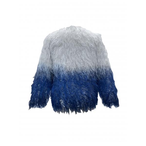 Fluffy Jacket Midnight / Lacivert Gradyenli Suni Kürk Ceket Fluffy Jacket Midnight / Lacivert Gradyenli Suni Kürk Ceket
