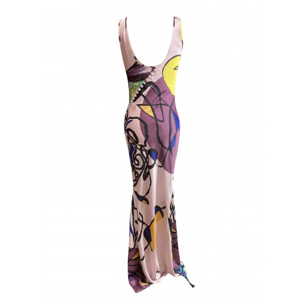Satsuma Dress - Sırtı Düğme Detaylı Uzun Verev Kesim Elbise Satsuma Dress - Sırtı Düğme Detaylı Uzun Verev Kesim Elbise